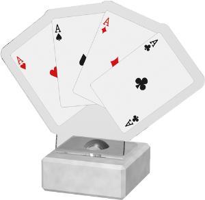 Karty plaketa - poker - AKE02M12