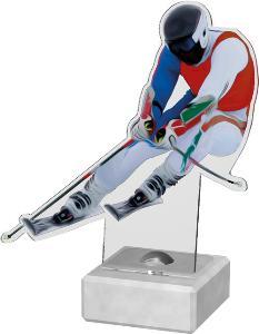 Sjezdové lyžování plaketa - AKE02M14