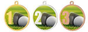 Medaile - golf - MDT0001M10