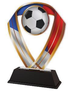 Plaketa fotbal CZ - ACRC001M16