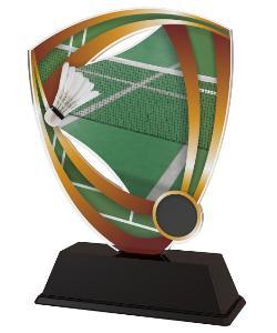 Plaketa badminton - CACUF001M2 - zvìtšit obrázek