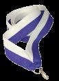 Stuha na medaili - bílo modrá