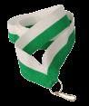 Stuha na medaili - bílo zelená