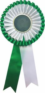 Kokarda - zeleno-bílá K12