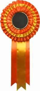 Kokarda - oranžovo-zlatá K23 - zvìtšit obrázek