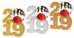 Medaile - bowling - MDA2019M08 - zvìtšit obrázek