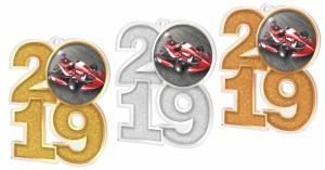 Medaile - motokáry - MDA2019M12
