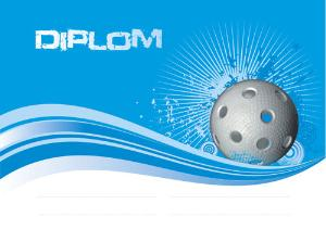 Diplom florbal - DP0015