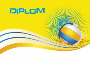 Diplom volejbal - DP0016