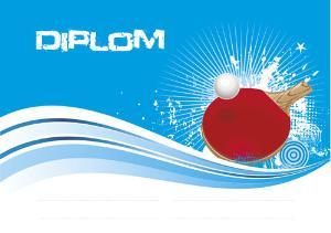 Diplom ping pong - DP0017