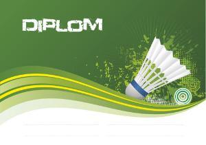 Diplom badminton - DP0020